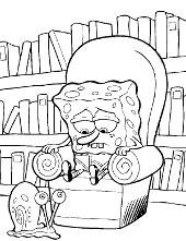 SpongeBob Squarepants coloring pages to print, books, Patrick