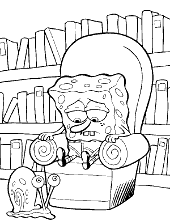 Coloring pages with SpongeBob