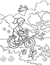 Girl on a bike children