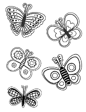 Spring coloring pages to print for children with bees and