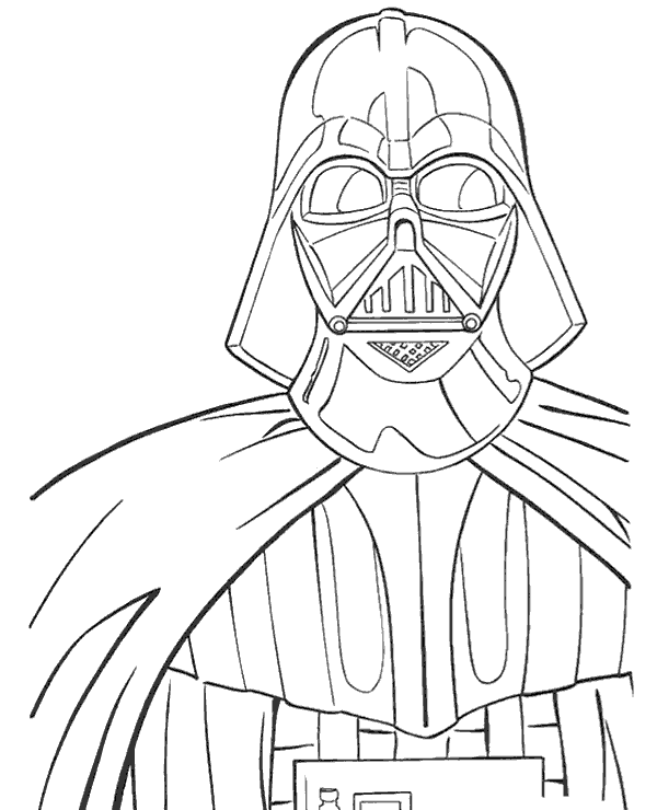 Lord Darth Vader coloring page to print or download for free