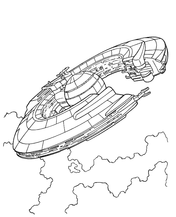 High-quality Star Wars spaceship coloring sheet to print