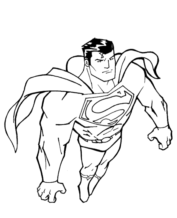High-quality Superman colouring books 16 to print for free