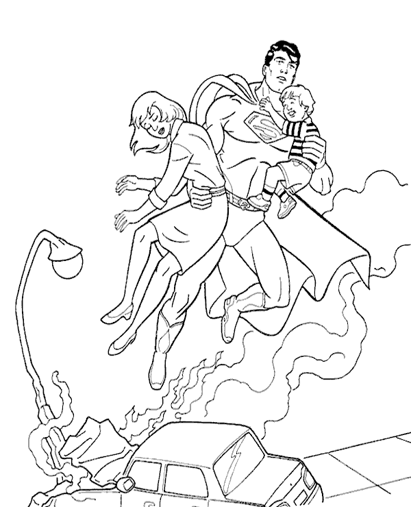 High-quality Superman colouring books 19 to print for free