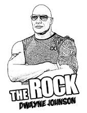 The rock actor to color