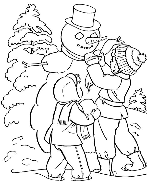 High-quality Winter colouring page 16 to print for free