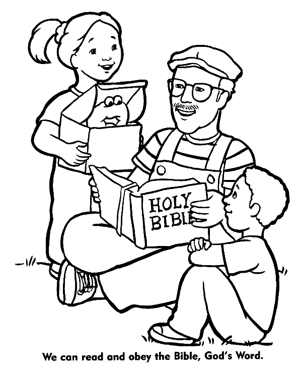 High-quality Christian coloring page to print for free