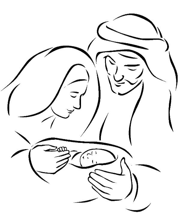 Saint family coloring page