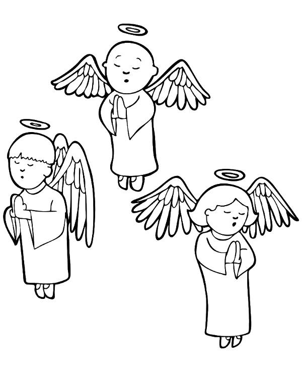 Angels to color