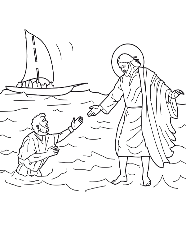 Jesus' miracles coloring page