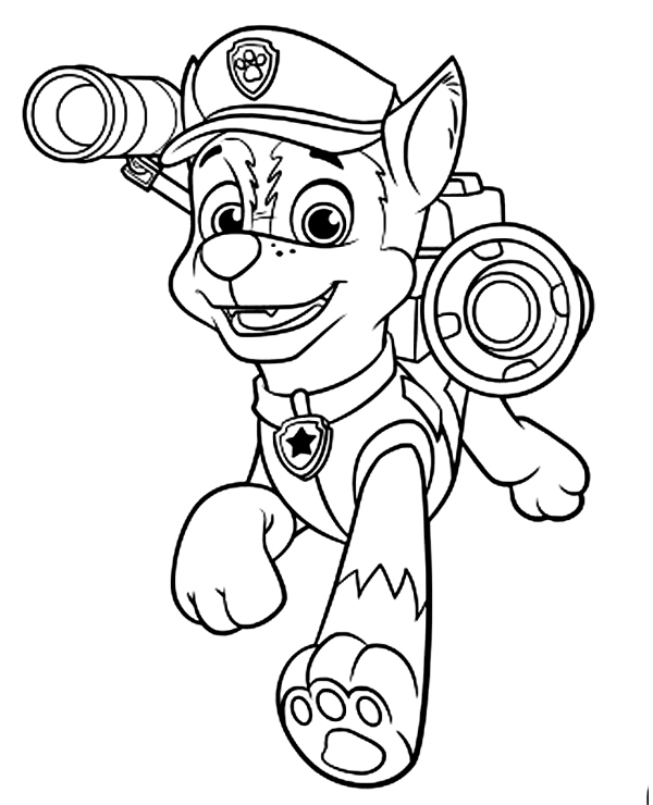 Paw Patrol Chase Coloring Pages : patrol, chase, coloring, pages, Chase, Patrol, Colouring, Books