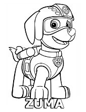 PAW Patrol coloring pages pictures to color for children rescue dogs
