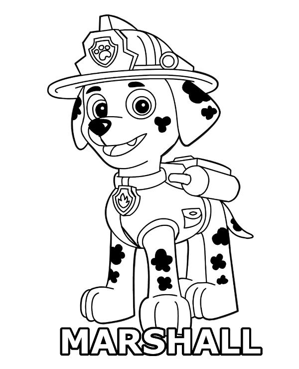 Marshall coloring page Paw Patrol