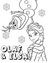Frozen coloring pages, sheets with Elsa, Anna, Olaf, Sven