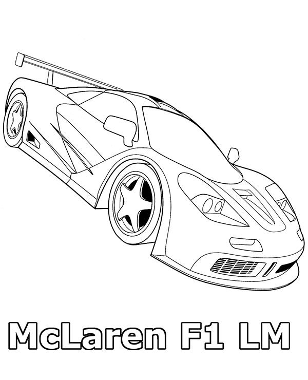 Free Coloring Pages Of Mc Laren F1