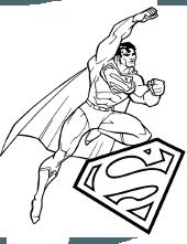 Superman print coloring pages for free, Clark Kent, Lois Lane