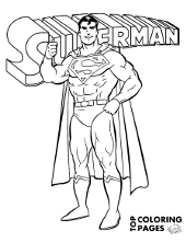Print Superman coloring pages for free, Clark Kent on