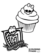 Printable Monster High coloring pages with Draculaura
