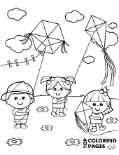 Spring coloring pages to print for children bees butterfly