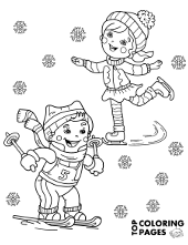 Winter printables for kids, sledges, snowman, snow battle