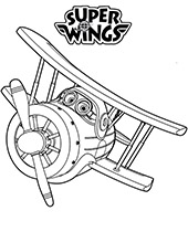 Super Wings printable coloring pages, worksheets for children