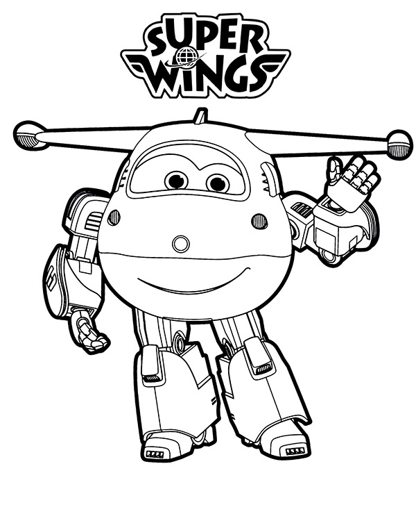 Super Wings Coloring Pages Sketch Coloring Page