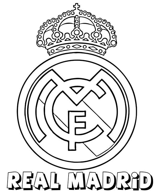 Real Madrid Logo Coloring Pages Erieairfair