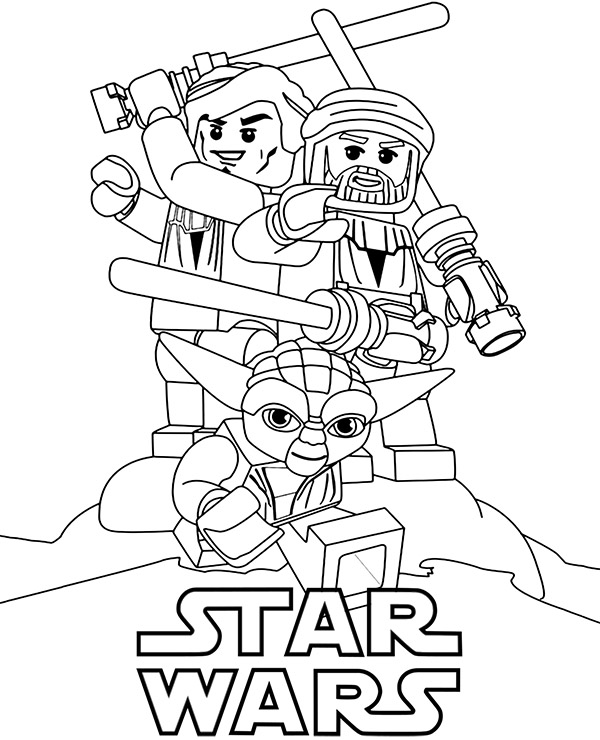 High-quality Star Wars Lego coloring page to print for free