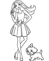 barbie coloring pages # 76