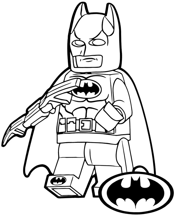 Lego Batman Minifig On Printable Coloring Page Sheet