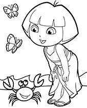 Free Dora coloring pages, sheets, books for children
