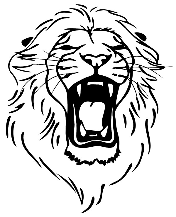 Lion Head Coloring Page : coloring, Lion's, Printable, Relaxing, Coloring, Adults