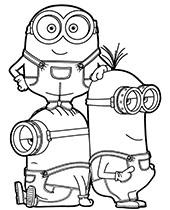 Printable Minion Coloring Page : printable, minion, coloring, Minions, Coloring, Pages, Print, Topcoloringpages.net