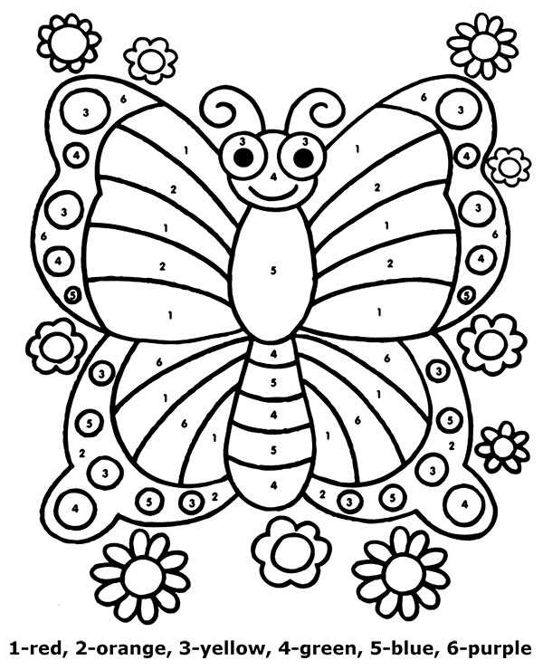 Butterfly Color By Number Image To Print Or Download For Free