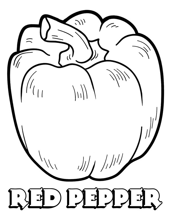 Pepper Coloring Page : pepper, coloring, Vegetables, Coloring, Pictures,, Sheets, Pepper