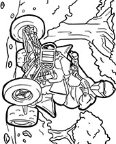 Motorbikes coloring pages with motorcycles