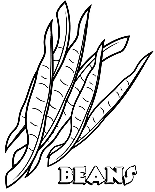 High-quality Beans coloring sheet to print for free