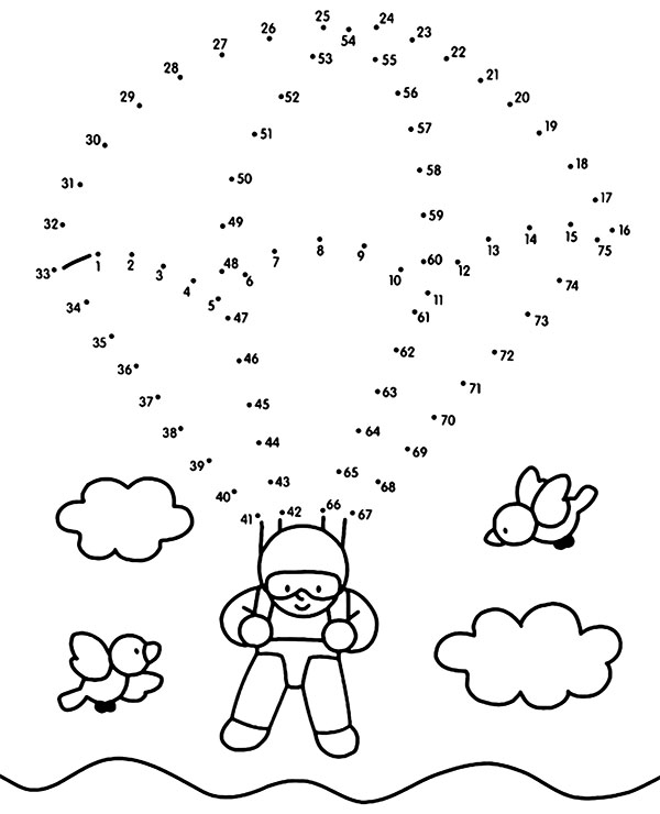High-quality Parachute easy worksheet for kids to print