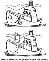 Find differences between pictures, illustrations to
