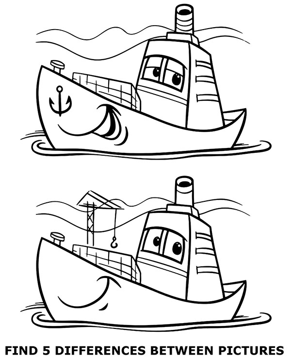 Worksheet find 5 differences educational picture for children