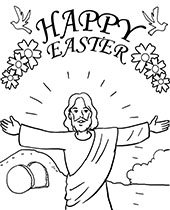 Easter bunny, basket,spring coloring pages, sheets, cards