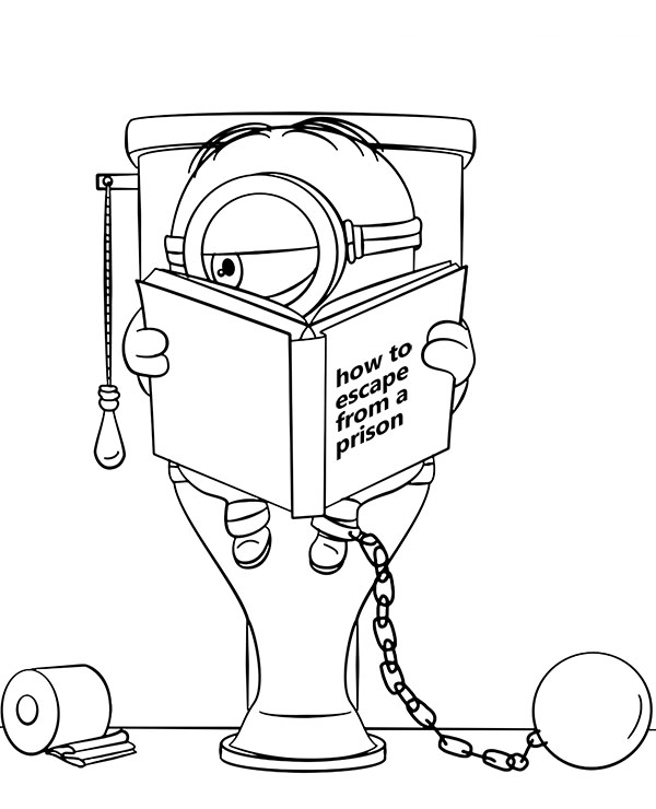 Minion funny coloring page to print or download for children