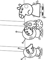 Printable Peppa Pig coloring pages for free, George, mummy