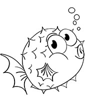 Water animals coloring pages for children