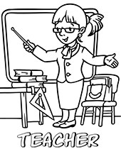 Printable professions coloring pages, sheets for children