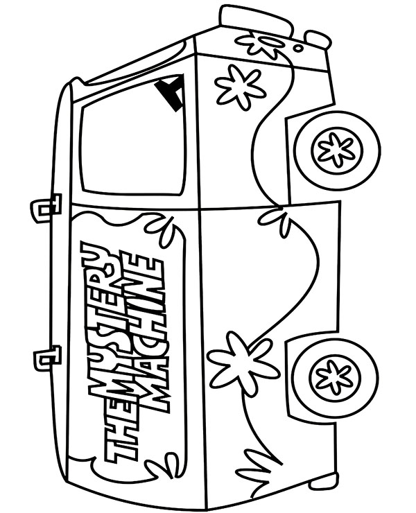 High-quality The mystery machine coloring page to print