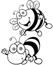 Insects, worms, bugs coloring pages for children