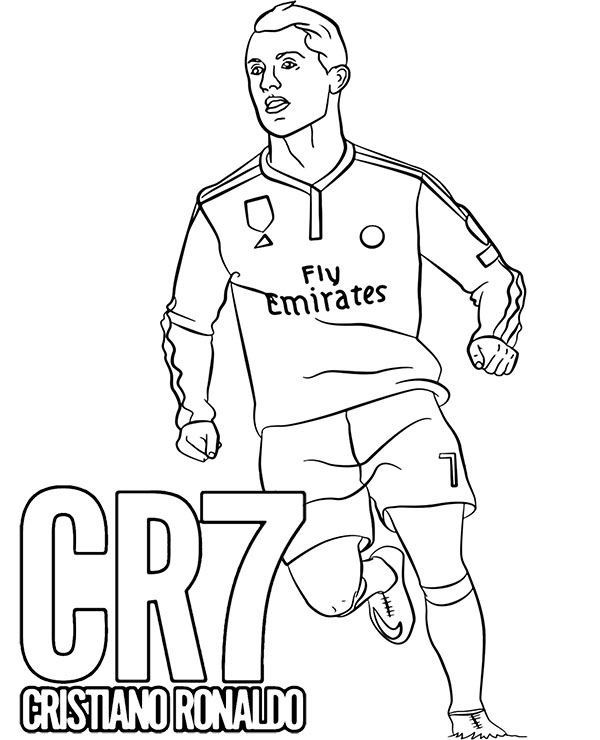 Cristiano Ronaldo Coloring Pages : cristiano, ronaldo, coloring, pages, Coloring, Cristiano, Ronaldo, Topcoloringpages.net