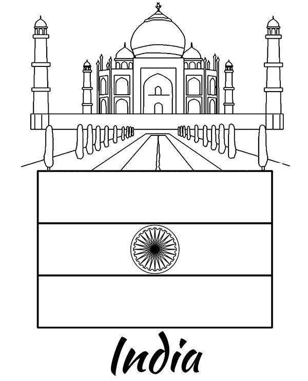 Flags Of Countries India Coloring Page Printable Picture