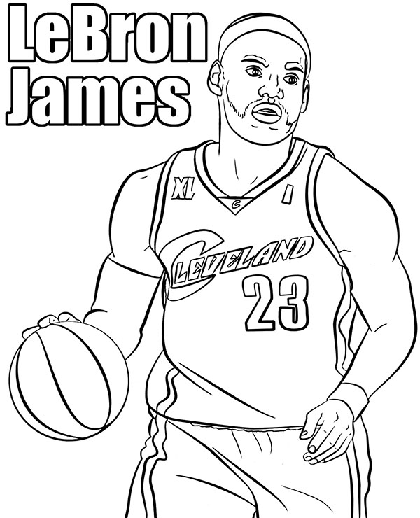 Lebron James Coloring Pages Lakers : lebron, james, coloring, pages, lakers, Lakers, Coloring